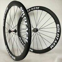 모든 브랜드 45mm tubualr 탄소 바퀴 700c 도로 자전거 전체 탄소 wheelset 45mm 자전거 바퀴