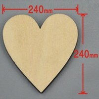 9pcs/lot Blank unfinished wooden heart crafts supplies laser cut rustic wood wedding rings ornaments 240mm 171140