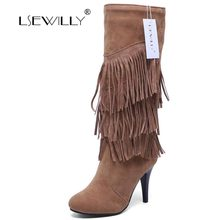 Lsewilly bottes femme trois boucles pelu ...