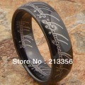 FREE SHIPPING ! USA HOT SELLING E&C TUNGSTEN JEWELRY MENS BLACK TUNGSTEN LORD OF THE RING THE LOTR RING HIS/HER WEDDING JEWELRY