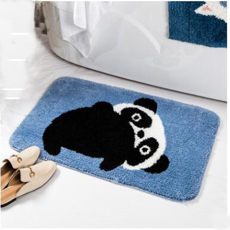 Cute Cartoon Bath Mat Water Absorption Carpet Rugs Toilet Funny Bathtub Room Living Room Door Stairs Bathroom Foot Floor Mats