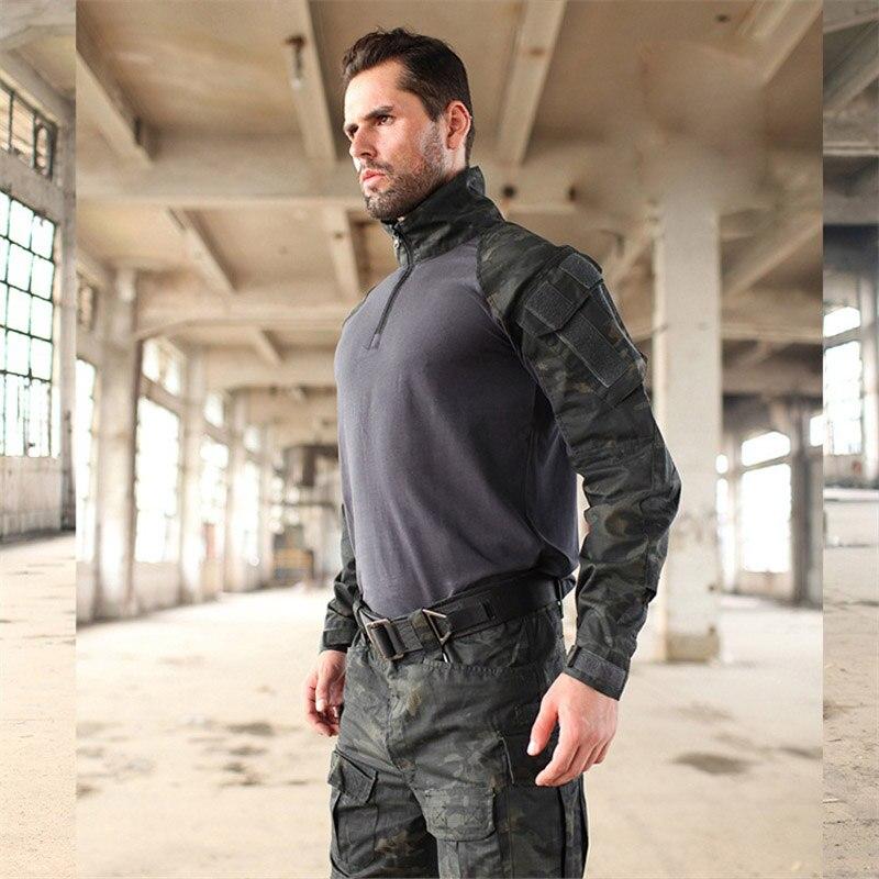 Uniformes militares Multicam camuflaje Tropic Frog trajes MTP entrenamiento G3 trajes hombres US ejército Airsoft combate Camisa + pantalones Cargo - 6
