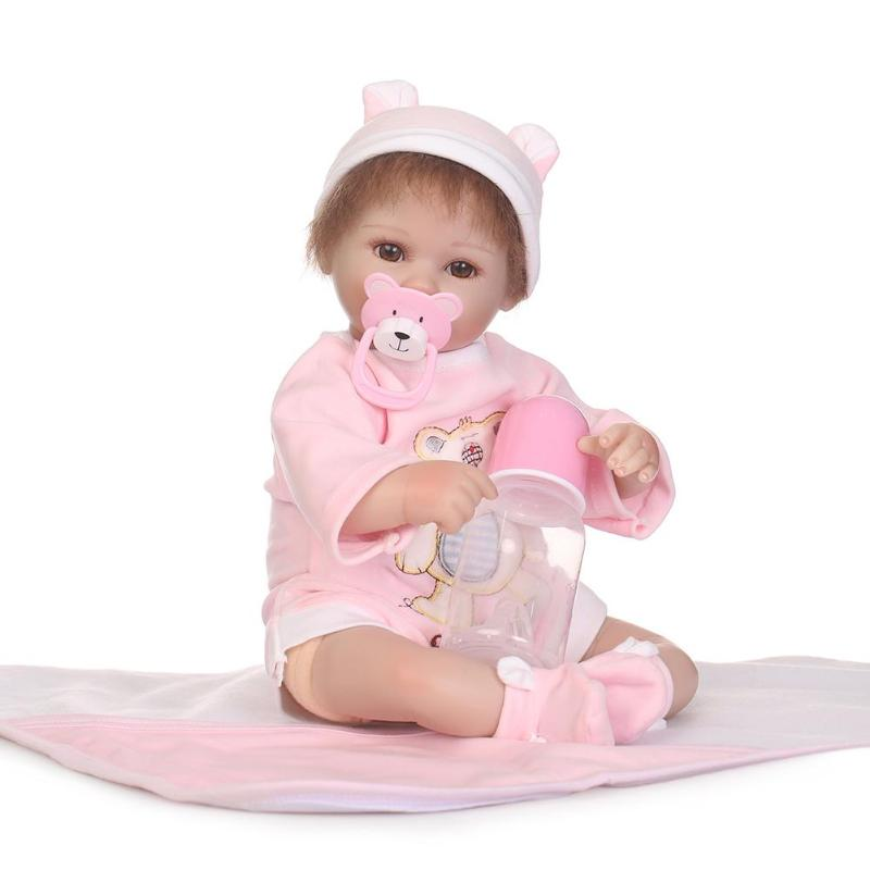 40cm Baby Reborn Doll Realistic Kids Playmate Dolls Toy Soft Silicone Lifelike Doll Toys for Girl Dollhose Birthday Gifts40cm Baby Reborn Doll Realistic Kids Playmate Dolls Toy Soft Silicone Lifelike Doll Toys for Girl Dollhose Birthday Gifts