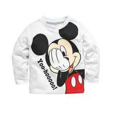 Hot Sale Baby Girls Boys Kids Cartoon Long Sleeve Minnie Mouse Blouses Tops Shirt Hoodie Baby Kids Autumn Winter Clothes Tops