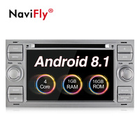 New Arrival android 8.1 Car tape recorder GPS DVD Player For Ford C Max Connect Fiesta Fusion Galaxy Kuga Mondeo S Max Focus