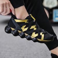 Plus Size Men Sneakers Red Black Gold Fashion Men Shoes Autumn Lace Up Men Zapatos Krasovki Unisex Tennis Masculino Casual Shoes