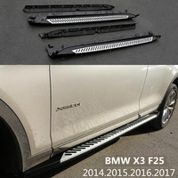 For BMW X3 F25 2014.2015.2016.2017 Car Running Boards Auto Side Step Bar Pedals High Quality New Modified Version Nerf Bars