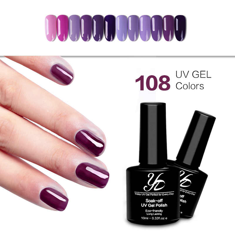 Yiday 1 pc Lilac Paars UV Gel Nagellak Semi Permanente Hybrid Vernis Losweken Lak Gellak UV LED Lamp lijm Make-up Vrouwen Nagels