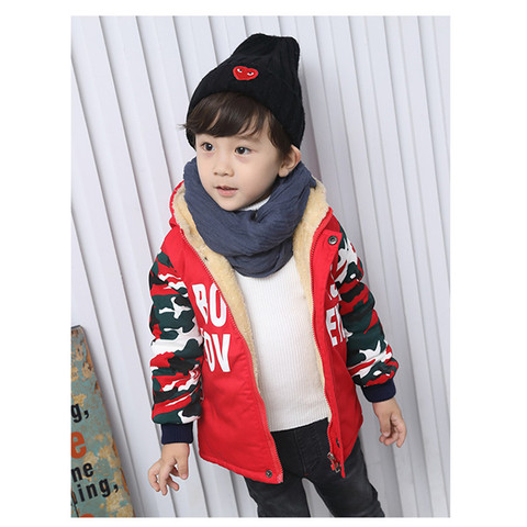 257 High quality 0-4 years winter boy jacket thicken woolen warm Hooded baby clothing kid children baby jacket outerwear coat Islamabad