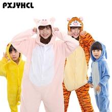 42b90afe9c Adulto chico mujeres Anime Kigurumi pijamas Animal cerdo rosado Tigre azul Pikachu  Cosplay traje de ropa para niño niñas diverti.