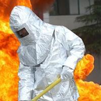 Алюминий фольги одежда пожарной костюм пожарного вне костюм высоких температур защитная одежда излучения одежды