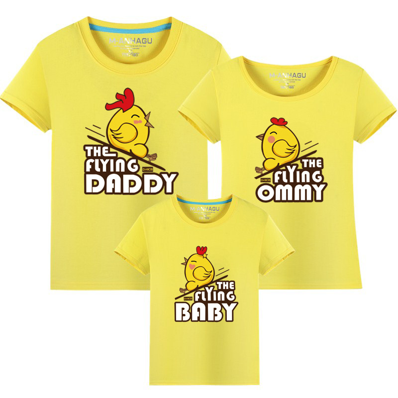 Family Matching Clothes 2017 Summer style Short-sleeve Birds T-shirt - Children's Clothing - Photo 3