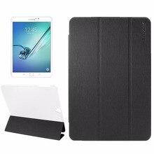 Для Samsung Galaxy Tab S3 9.7 дюймов T820/T825 Зубочистки По Горизонтали Кожи Сальто Case с Держателем & Sleep/Wake-up Func