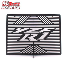 Check Discount Black Motorcycle Accessories Radiator Guard Protector Grille Grill Cover For YAMAHA YZF-R1 YZF R1 2009-2014