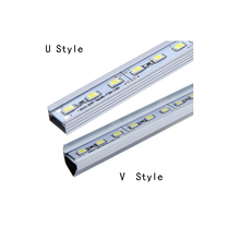 10pcs/lot  Super bright DC 12V 5630 SMD 36 LED 50cm Rigid Strip Light Bulbs with Aluminum Alloy Shell Warmwhite/ Cold White