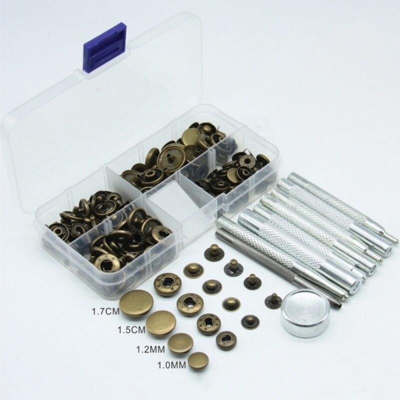 40 stücke Bronze Druckknöpfen Druckknöpfe Poppers Nähen Kleidung Snaps Taste Und 9 stücke Snap Verschluss Installation Kit
