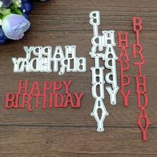 2pc Letters Happy Birthday Metal cutting dies Scrapbook card album paper craft font b home b