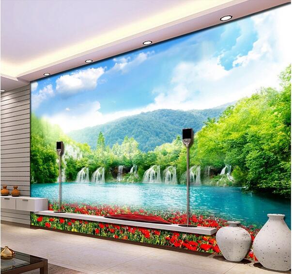 Mountain Wall Mural aliexpress : buy 3d room wallpaper custom mural non woven wall