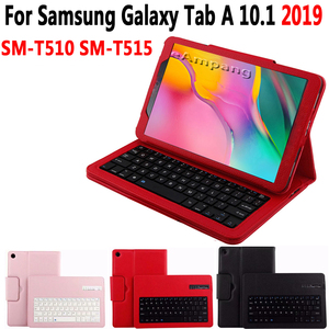 Image 3 - Bluetooth Keyboard Case for Samsung Galaxy Tab A A6 10.1 2016 2019 T580 T585 T580N T585N T510 T515 Keyboard Cover Funda + Gift