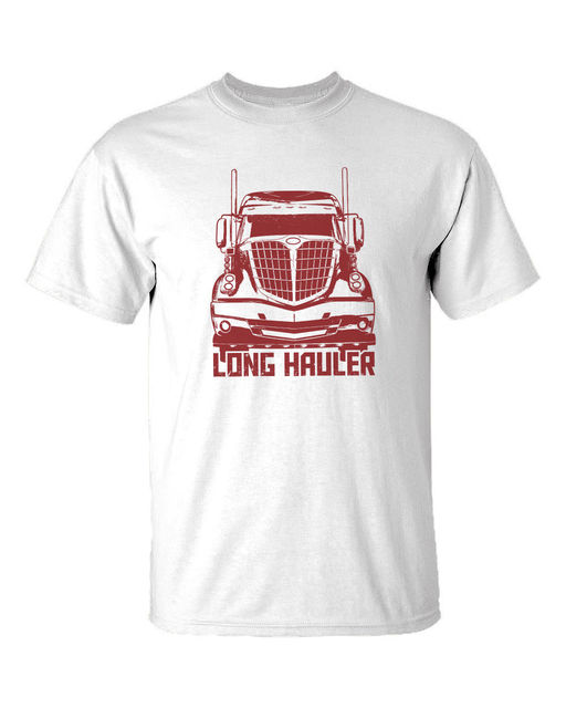 533d268435eaae 2018 Newest Men'S Funny New Truckers T-shirt Long Hauler road train >3XL  truck model truckin life dvd Tee Shirt