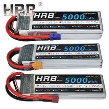HRB 5000mAh 11,1 V Lipo батарея 14,8 V 50C T Deans 7,4 V 2S 3S 18,5 V 22,2 V для самолета квадрокоптера лодки 4WD автомобиля RC запчасти 4S 5S 6S