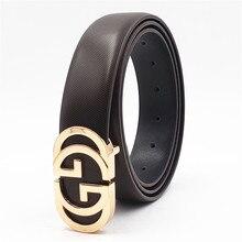 Luxury Designer Belt for Men Women Double G Smooth Buckle Strap High Quality Gen