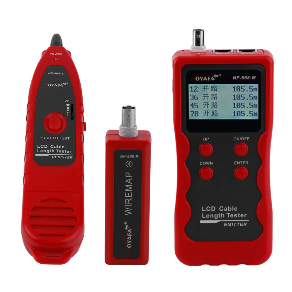 цена NOYAFA Multifunctional NF-868W Cable Wire Tracker Tester Errors Fault Checker Length Tester 8 Remote Units Backlight Function