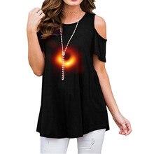 Женский черный топ с принтом с отверстиями и короткими рукавами, с ремешками и открытыми плечами, спортивная одежда для фитнеса, дышащая рубашка для бега
