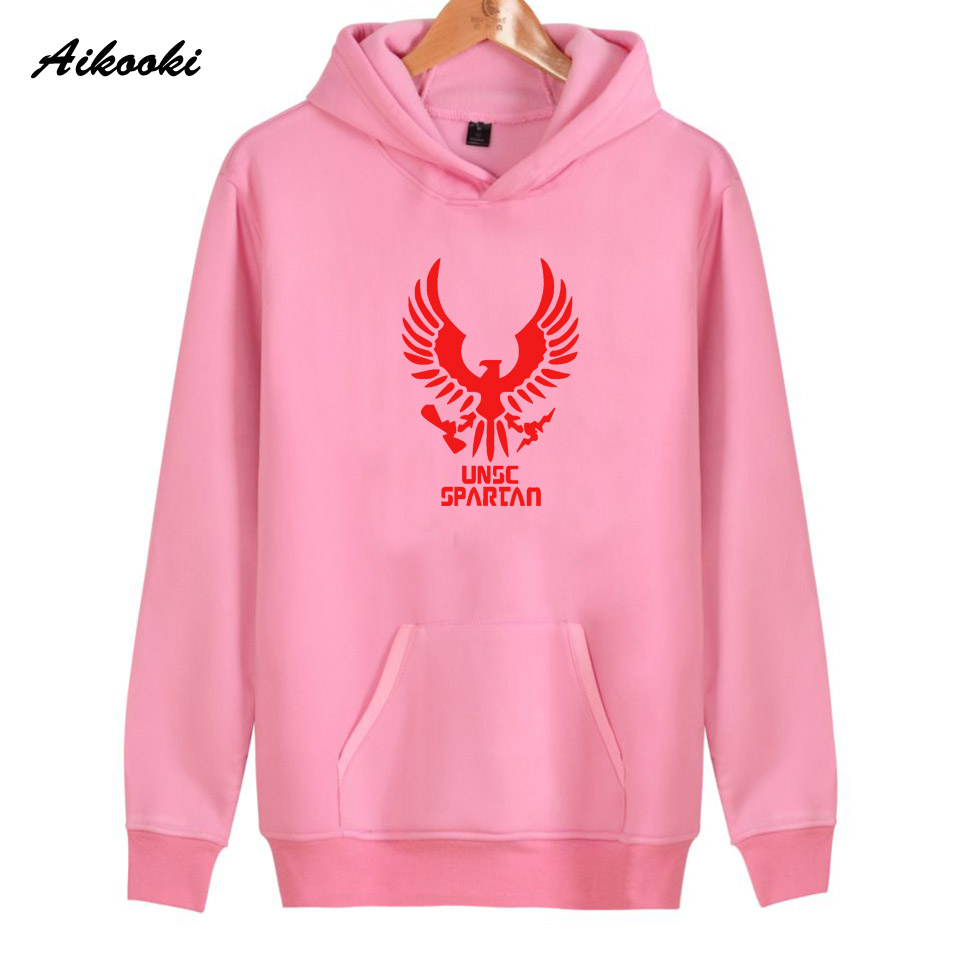 2018 Aikooki UNSC spartan Hoodies Women/Men Fashion Cotton Harajuku Womens Hoodies and Sweatshirt UNSC spartan Clothes