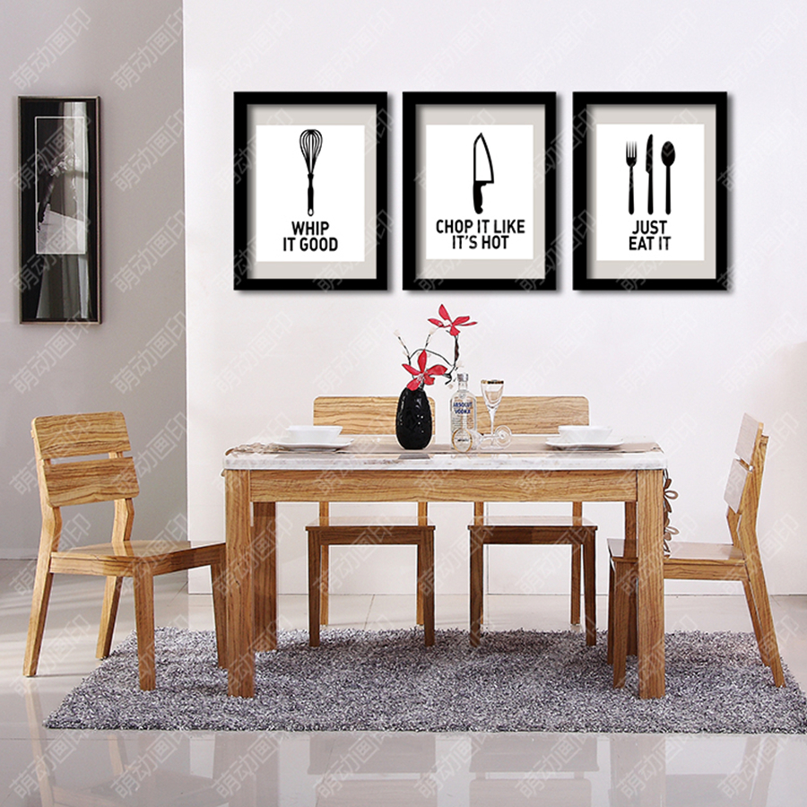Kitchenware and dining utensils decorative wall painting ...