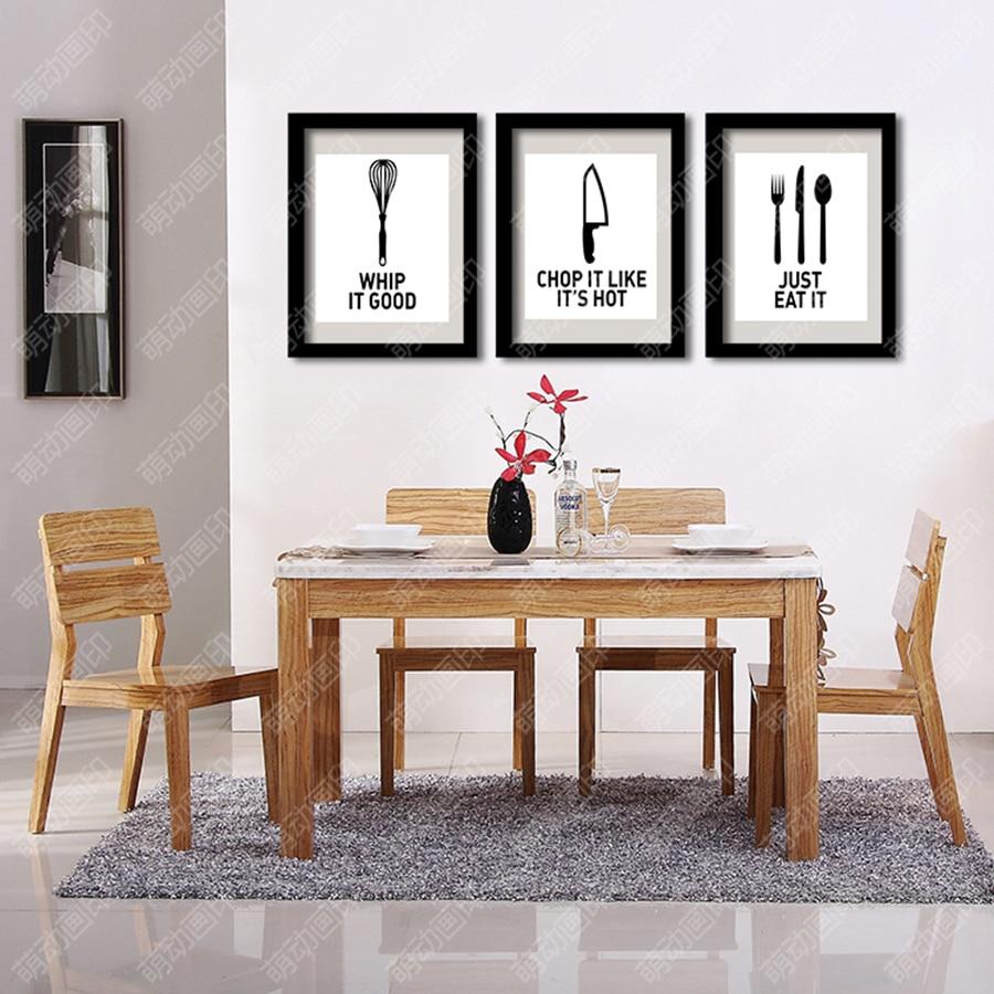 utensili da cucina e utensili da pranzo decorativa pittura murale su tela arte stampa parete quadri
