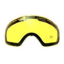 Hot Double brightening lens for ski goggles Night of Model Number GOG 201 For weak Light