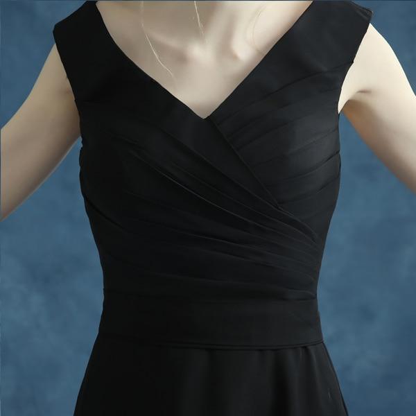 100% stvarne slike Jeftini duge malo crne haljine Večer V-izrez - Haljina za posebne prigode - Foto 3