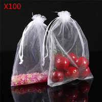 100pcs 10cm X 15cm Gift Bags Candy Bags Wedding Favors Portable Gift Box Party Favor Decoration