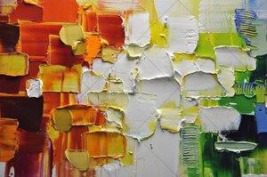 Image 2 - Kerst Abstracte Moderne Landschap Handgemaakte Kleurrijke Abstracte Stijl Dikke Olieverf Op Canvas Voor Home Decoratieve Wall Art