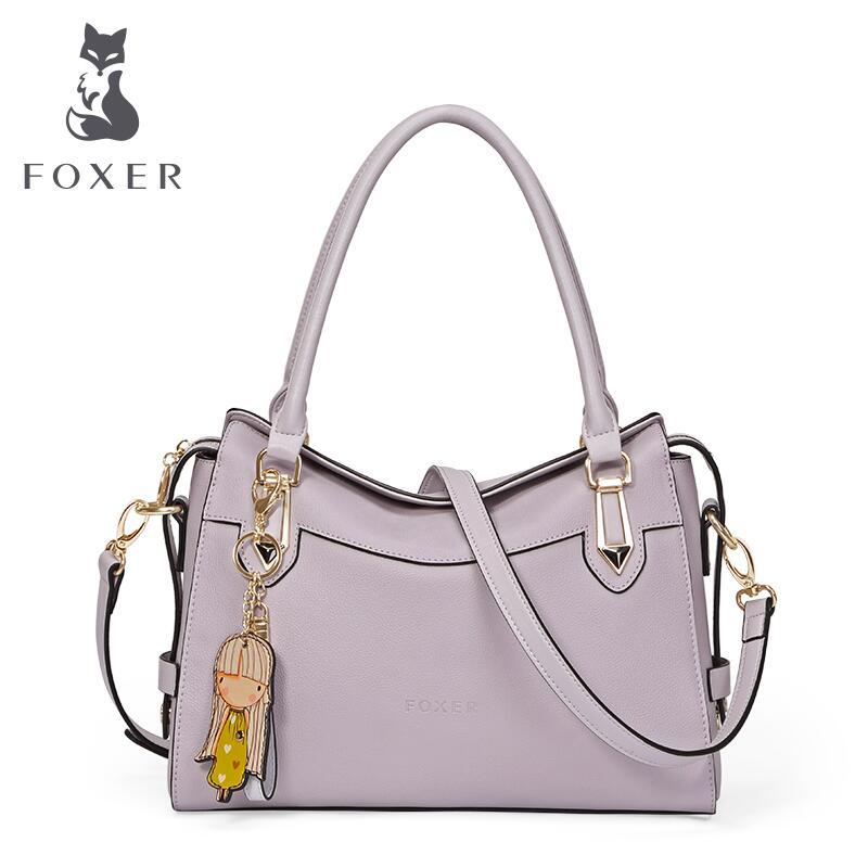 Foxer high end luxury fashion leather handbag shoulder bag