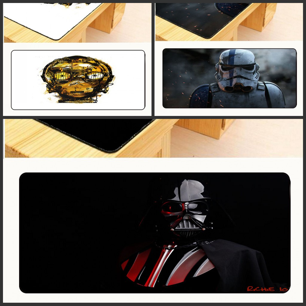 Mairuign Rectangle Star War Free Shipping Rubber Gaming Table Mat Overlock Mouse Pad Large Computer XL 900 * 400 * 2mm