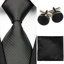 Silk Tie Sets with Handkerchief and Cufflinks