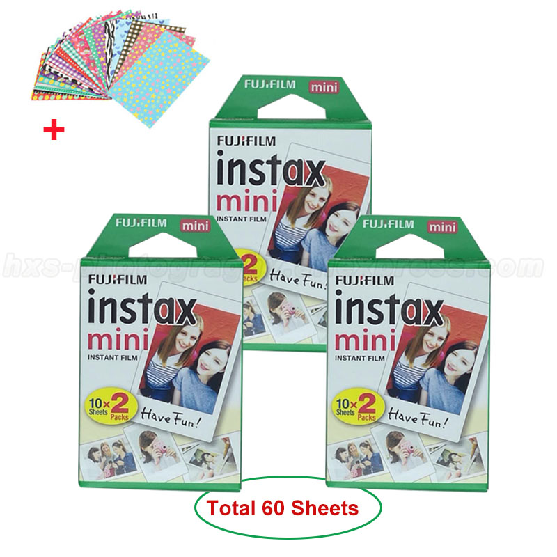 Genuine Fujifilm Instax Mini 8 Film Fuji White Photo Paper 60 Sheets For Mini 9 8 50s 7 7s 90 25 Share SP-1 SP-2 Instant Cameras 5 packs fuji fujifilm instax mini instant film monochrome photo paper for mini 8 7s 7 50s 50i 90 25 dw share sp 1 cameras