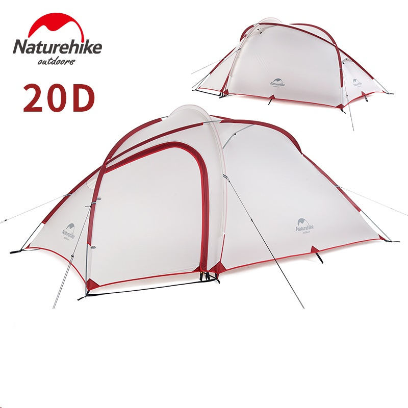 NatureHike Hybi 3 person ultralight camping tent with mat large family camping tents best camp equipment naturehike 2 man 3 season ultralight camping tent wiht vestibule best camp equipment fast delivery