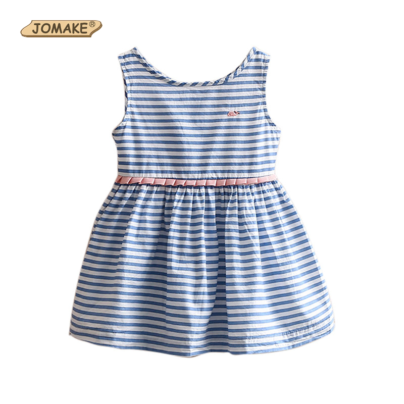Jomake Girls Dresses Summer 2019 Classic Striped Baby Girl -3716