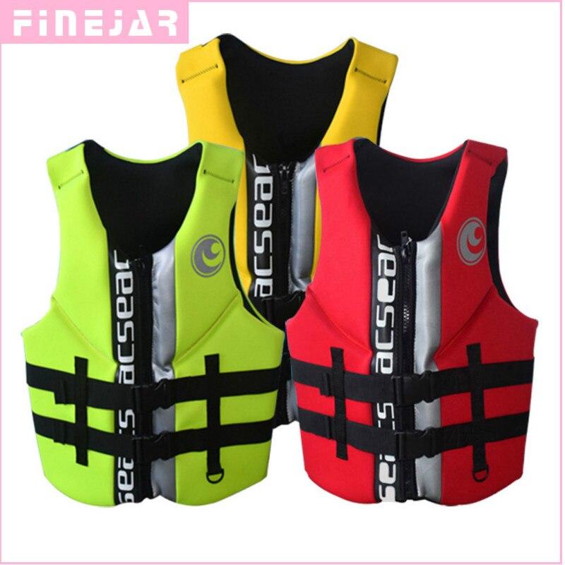 Haute qualité professionnelle néoprène Portable adulte vie vestes épais d'eau flottant surf plongée en apnée pêche course gilet h2