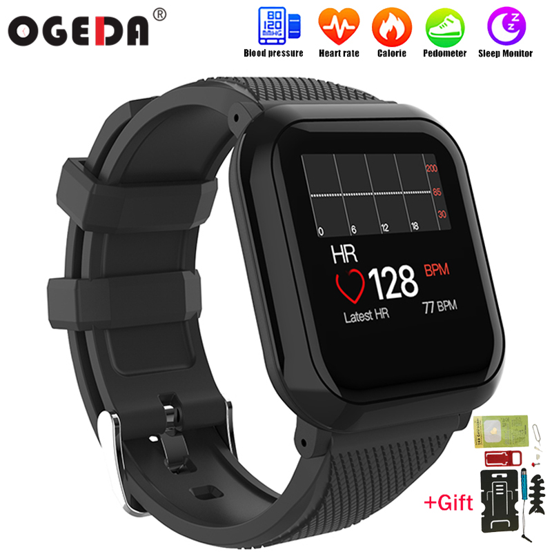 Digital Watches Men's Watches 2019 New Ogeda Men Smart Watch Ip68 Waterproof Heart Rate Blood Pressure Fitness Tracker Pedometer Bracelet Women Smart Watch