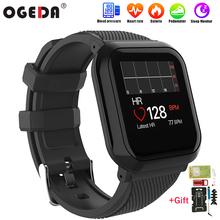 2019 NEW OGEDA Men Smart Watch IP68 Waterproof Heart Rate Blood Pressure Fitness Tracker Pedometer Bracelet Women Smart Watch