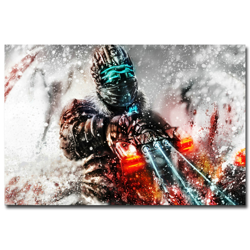 NICOLESHENTING Dead Space 2 3 Hot Video Juego de Seda Del Arte Poster 12x18 24x3