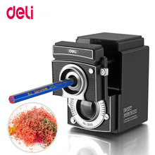 Deli 0668 manual pencil sharpener Vintage Camera Pencil Sharpener Creative Hand Student Gift