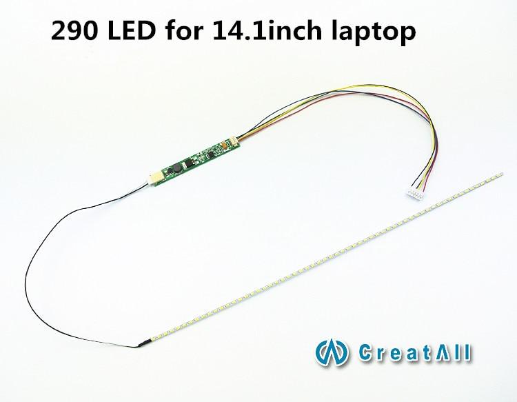 2pcs/lot 290mm Adjustable Brightness Led Backlight Strip Kit,Update Your 14.1inch Laptop Ccfl Lcd To Led Panel Screen