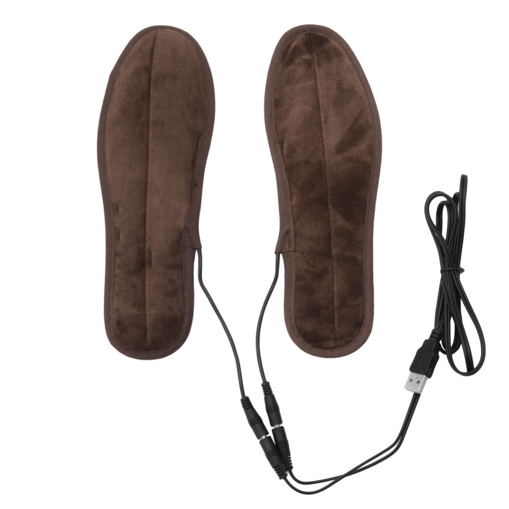 USB Electric Powered Plush Fur Heating Insoles Winter Keep Warm Foot Shoes new usb heated insole electric powered plush fur heating shoe pad winter keep warm foot shoes insole
