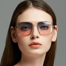Luxury Cat Brand Vintage Sunglasses Women 2019 Oversize Big Frame Eye Sun Glasses Shade for Double Color Lens High Quality