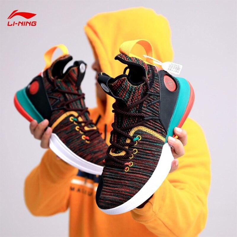 Li-ning hommes AIT VI Wade série chaussures de basket-ball professionnel Mono fil doublure coussin nuage Sport chaussures baskets SJFM19